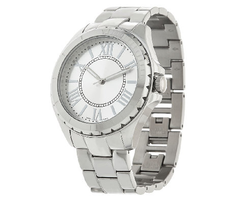 Stainless Steel Round Case Bracelet Watch