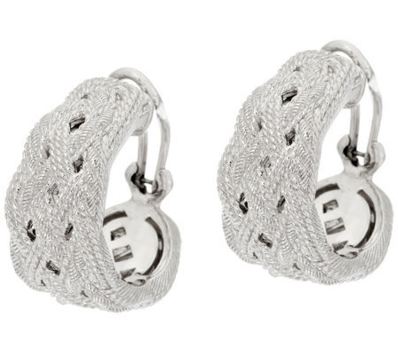 """As Is"" Judith Ripka Sterling Braided Earrings"