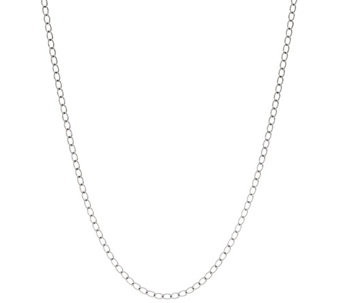 "Sterling 36"" Curb Link Chain Necklace by American West 12.25g - J330923"