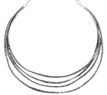 Sterling Silver Multi-Layer Collar Necklace by Or Paz, 41.4g