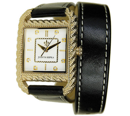 Judith Ripka Strap Wrap Watch - Goldtone