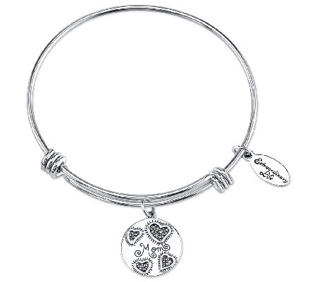 Sterling Marcasite Mom Charm Bangle by Extraordinary Life