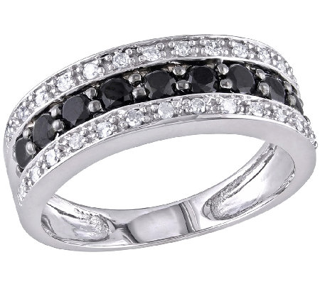 Black & White Diamond Band Ring, 14K White Goldby Affinity