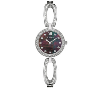 Bulova Mother-of-Pearl Dial Bangle Watch - J343123