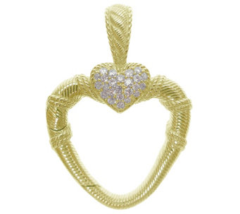 Judith Ripka 14K Clad & Diamonique Charm Holder& Enhancer - J344623