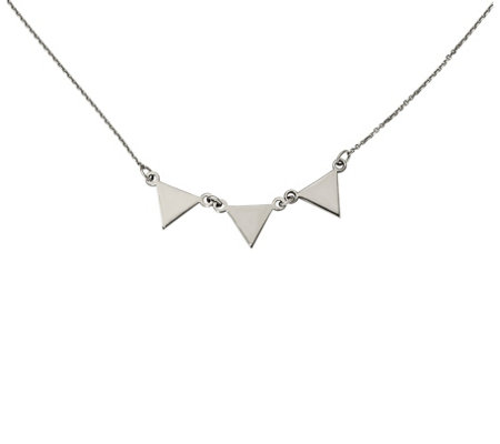 "Dainty Designs 14K Triple Triangle 18"" Necklace"