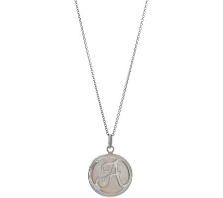 Honora Mother-of-Pearl Initial Necklace, Sterling