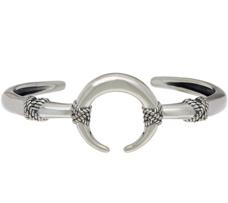 """As Is"" Sterling Silver Naja Cuff by Amarican West 15.2g"