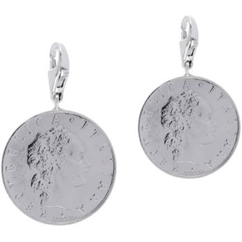 Italian Silver Set of 2 50-Lire Coin Charms,Sterling