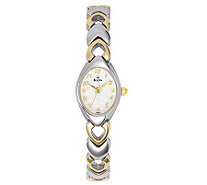 Bulova Women's Two-tone Bracelet Watch with White Dial - J112924