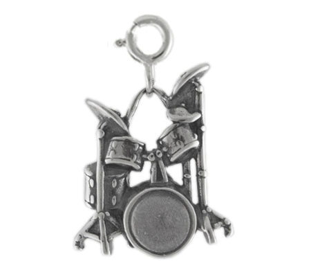 Sterling Drum Set Charm