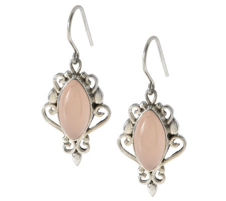 Artisan Crafted Sterling Chalcedony Dangle Earrings