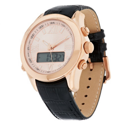 """As Is"" Bronzo Italia Dual Time Digital Watch"
