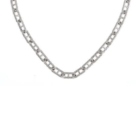 "Judith Ripka Sterling 18"" Status Link Toggle Necklace"