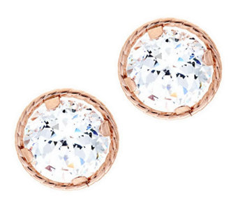 Diamonique 100-Facet 2 cttw Stud Earrings 14K Gold - J280224
