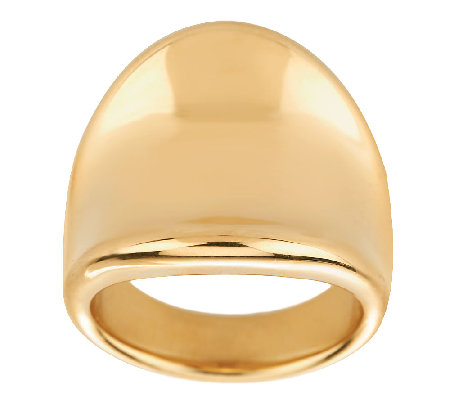 Oro Nuovo Bold Polished Concave Tapered Ring 14K
