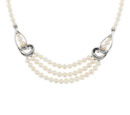 Carolyn Pollack Sterling & Pearl Statement Necklace