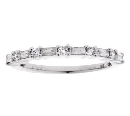 """As Is"" Affinity Diamond 1/3cttw Rnd & Baguette Ring, Platinum"