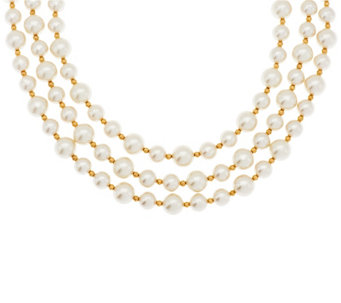 Linea by Louis Dell'Olio 3-strand Simulated Pearl Necklace - J296624