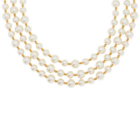 Linea by Louis Dell'Olio 3-strand Simulated Pearl Necklace