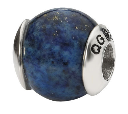 Prerogatives Sterling Lapis Gemstone Bead