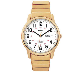 Timex Men's Fashion Easy Reader Goldtone Exp Band Watch - J308824