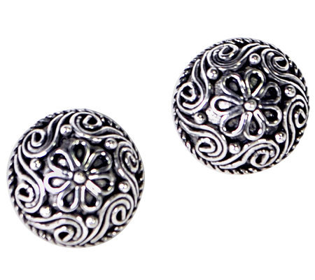 Artisan Crafted Sterling Filigree Stud Earrings