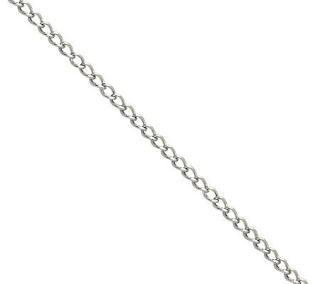 "Stainless Steel 3.0mm 18"" Curb Chain Necklace"