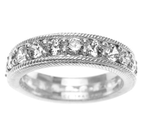 Judith Ripka Sterling Diamonique Eternity Ring