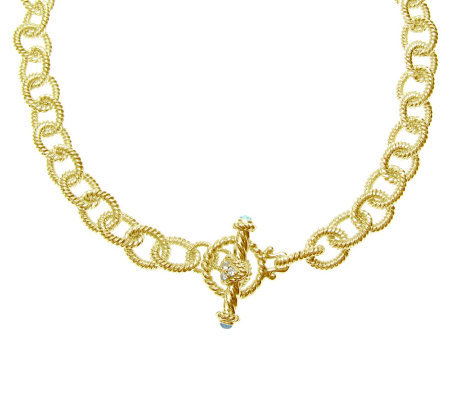 "Judith Ripka 5th Avenue 24"" Chain Necklace, Sterling 14K Clad"