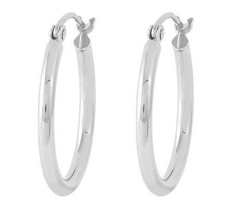 "Sterling 3/4"" Polished Round Hoop Earrings - J314624"