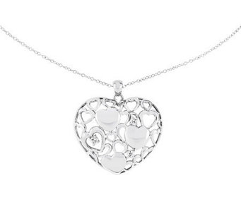 "Sentimental Expressions Sterling 18"" Full Of Love Necklace - J315024"