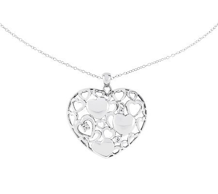 sentimental expressions sterling 18 full of love necklace