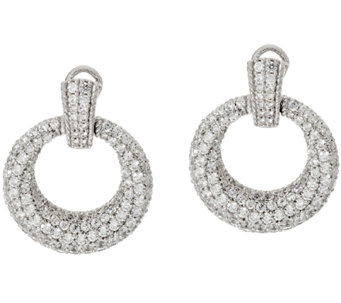 Judith Ripka Sterling 6.10 cttw Diamonique Hoop Earrings - J317224