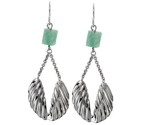 """As Is"" RLM Studio Sterling & Aventurine Angel Wing Earrings"