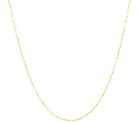 "Vicenza Gold 24"" Singapore Chain Necklace 14K Gold"