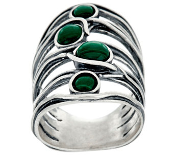 Sterling Silver Gemstone Cabochon Elongated Ring by Or Paz - J331724
