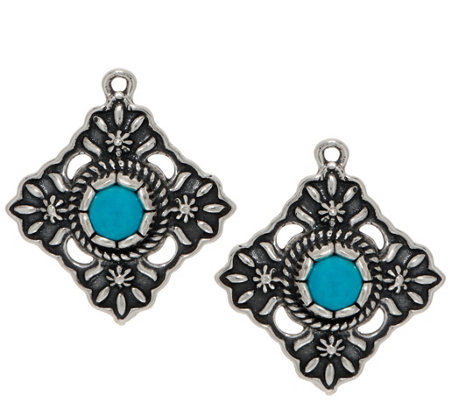 American West Sterling Silver & Turquoise Earring Accessory