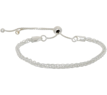 UltraFine Silver Polished Adjustable Bracelet 4.8g