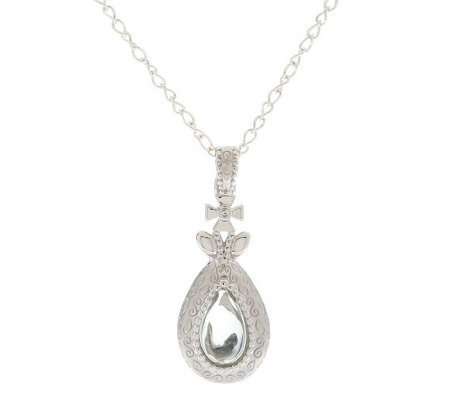 Naomi Pevsner Sterling Gemstone Teardrop Enhancer