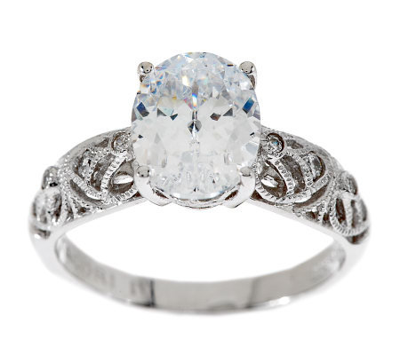 Tacori IV Diamonique Epiphany Oval Cut Solitaire Ring