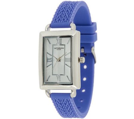 Liz Claiborne New York Cable Knit Texture Silicone Watch
