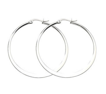 Stainless Steel Tapered Hoop Earrings - J302225