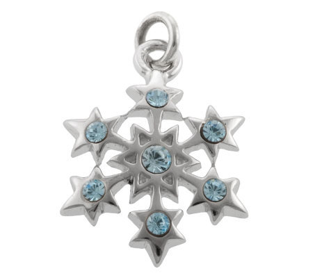 Mixers Sterling Crystal Snowflake Pendant