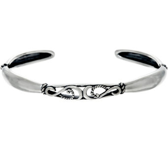 Carolyn Pollack Sterling Silver Signature Scroll Design Cuff Bracelet - J324525