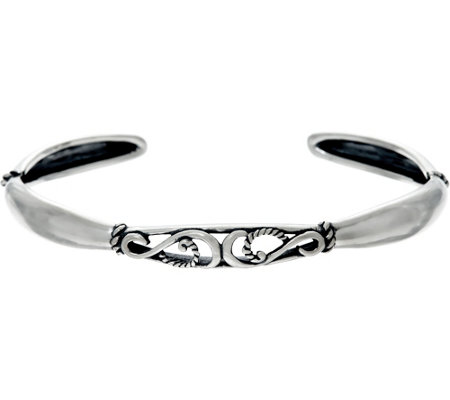 Carolyn Pollack Sterling Silver Signature Scroll Design Cuff Bracelet