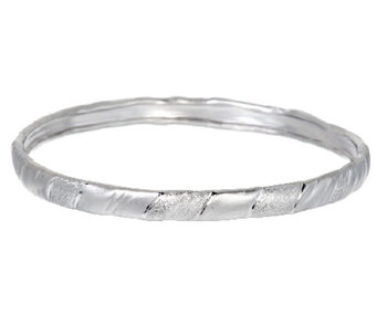 """As Is"" Mary Esses Sterling Wrapped Textured Bangle - J327225"