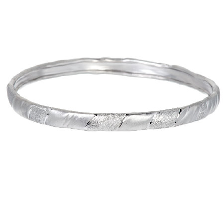 """As Is"" Mary Esses Sterling Wrapped Textured Bangle"