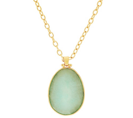 Stella & Dot Sanibel Reversible Pendant, Goldtone