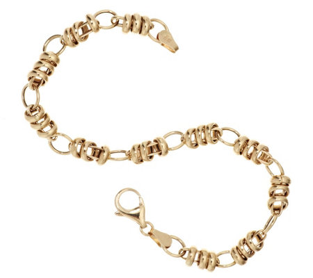 """As Is"" EternaGold 7-1/2"" Polished Status Link Bracelet, 3.8g"